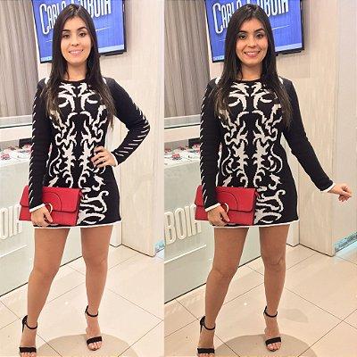 Vestido Tricot P&B