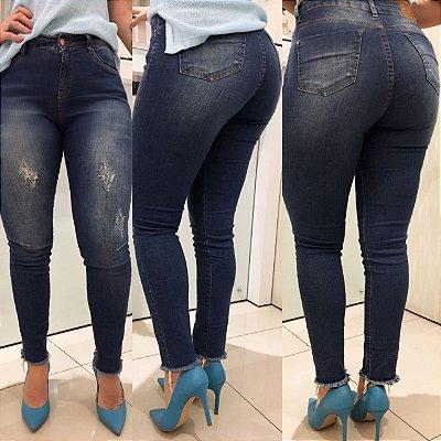 Calça jeans cintura intermediária