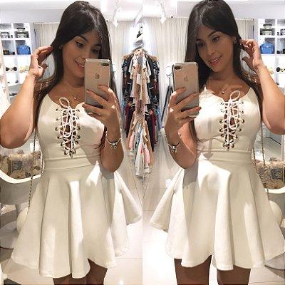 Vestido branco gode melhor neoprene com bojo