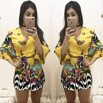 Macaquinho kimono amarelo
