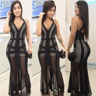 Vestido neotela longo
