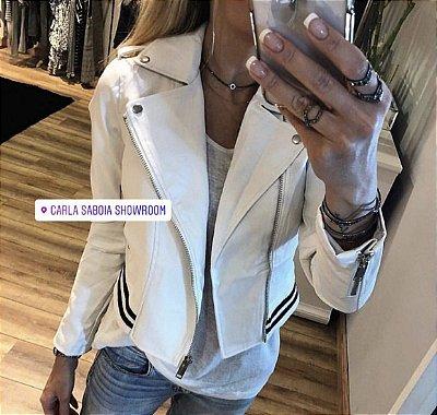Jaqueta courinho fake branca