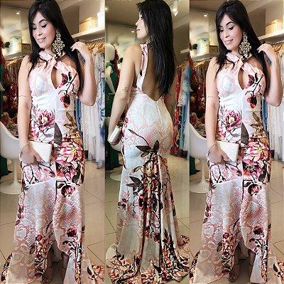 vestido Divina pele estampa flores do encanto