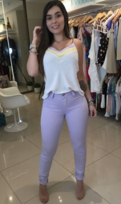Calça lavanda candy color