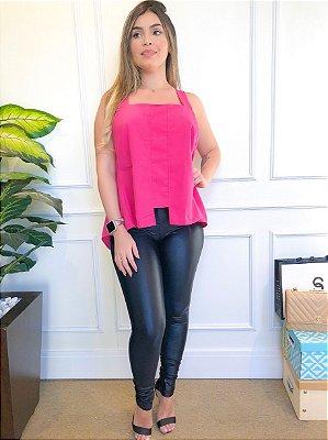 Blusa Bata Cruzada nas Costas X Pink