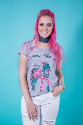 Camiseta Feminina Dream Unicórnio