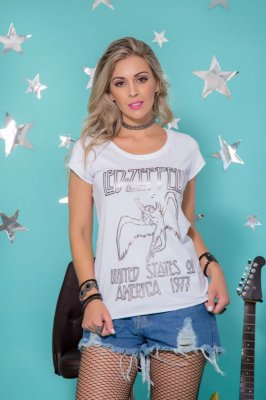 Camiseta Feminina Led Zeppelin