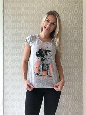 Camiseta Feminina Stone Sky Dog Tutu
