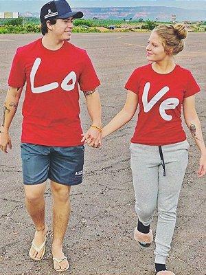 Camisa Casal Love Vermelha