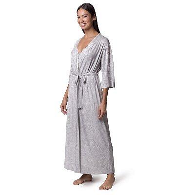 Robe Feminino Longo Mescla Claro