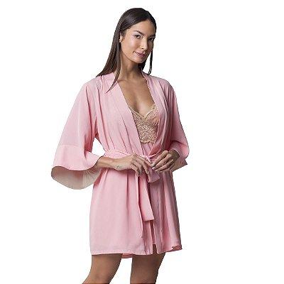 Robe Feminino Curto Rosa Tulipa