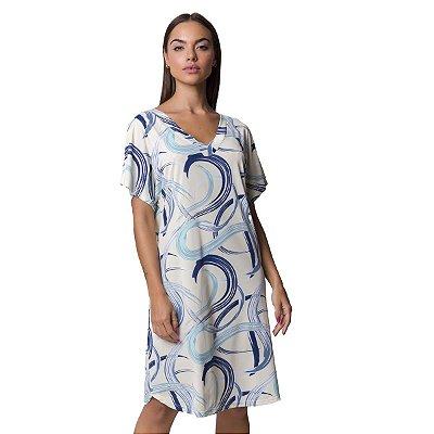 Camisão Feminino Azul Caleidoscópio