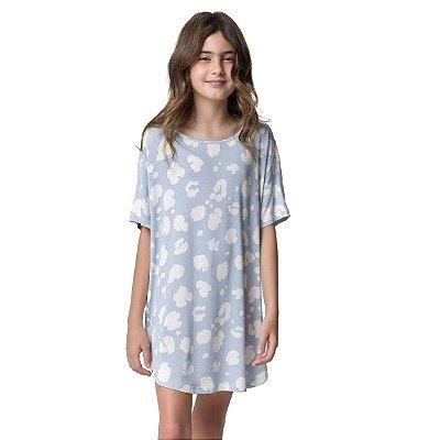 Camisão Feminino Infantil Onça Azul