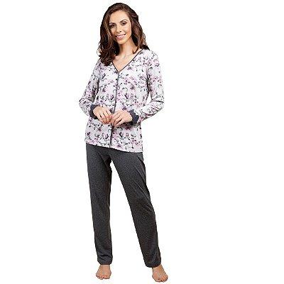 e0a4a39e5 Pijama de Inverno Aberto Xadrez - Inspirate