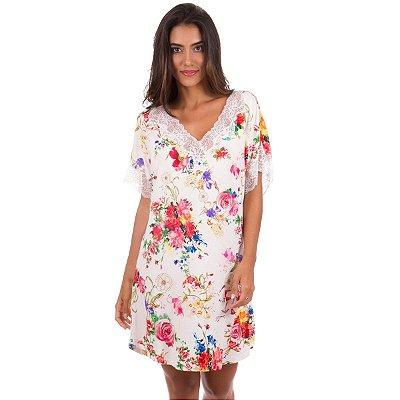 Camisão Feminino Floral com Renda 4a773fec8b09d
