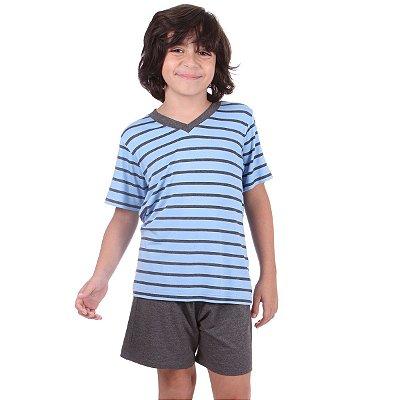 5c129727a Pijama Infantil Masculino Listrado Azul
