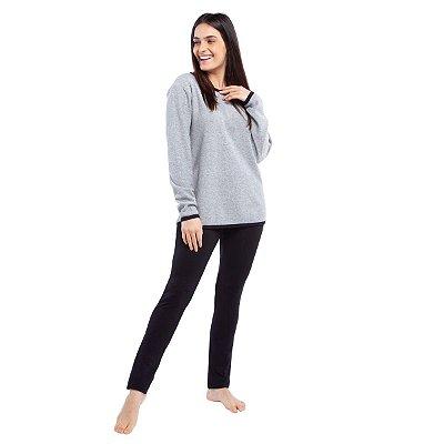 Pijama Feminino de Inverno Soft Mescla