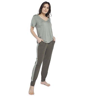 Pijama Feminino com Bolso Duo Green