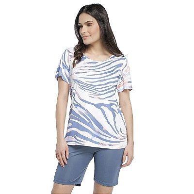 Pijama Feminino Curto Azul Fantasy