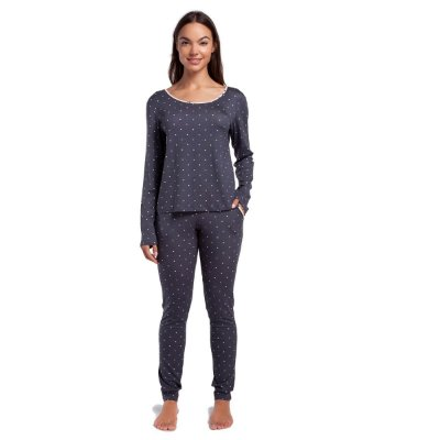 Pijama Feminino de Inverno Calcário Dots com Punho