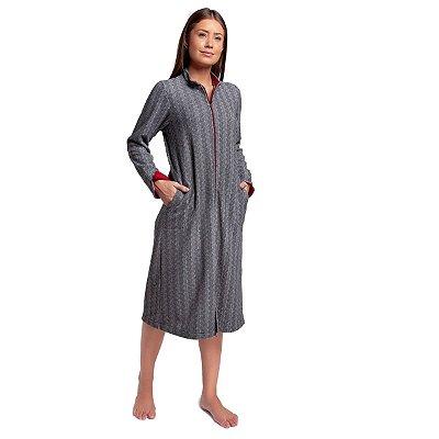 Robe Feminino de Inverno Soft Mescla Escuro com Bolso