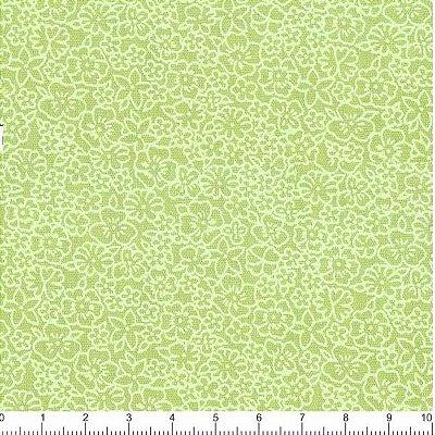 Tecido Tricoline Micro Flores Sweet Verde - 50 cm x 150 cm