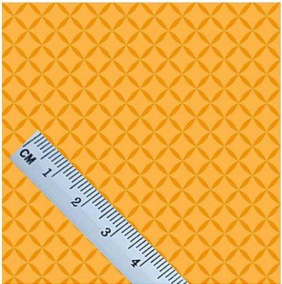 Tecido Tricoline Treliça Mostarda - 100% Algodão - Fio 40