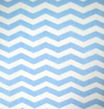 Tecido Tricoline Chevron Azul - 100% Algodão - Preço de 50cm x 150cm