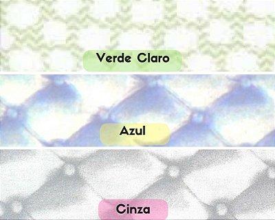 Tecido Tricoline  Estampa de Nuvem (Fundo Verde Claro, Azul e Cinza) - 100% Algodão- Fio 40