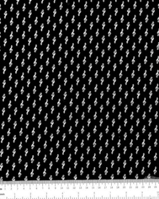 Tecido Tricoline Estampa Nota Musical - 100% Algodão- Fio 40
