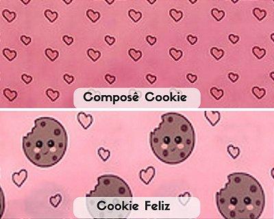Tecido Estampa Digital Tricoline Personagens Cookie (50 cm x 70 cm)