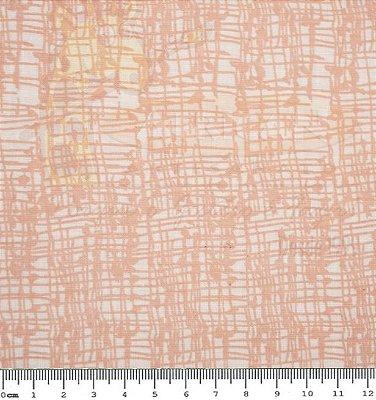 Tecido Tricoline Textura Riscada Salmão - Preço de 50cm x 150cm