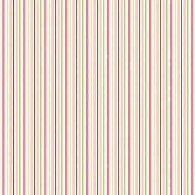 Tecido Tricoline LIstrado Multicolor Rosa Premium - 50 cm x 150 cm