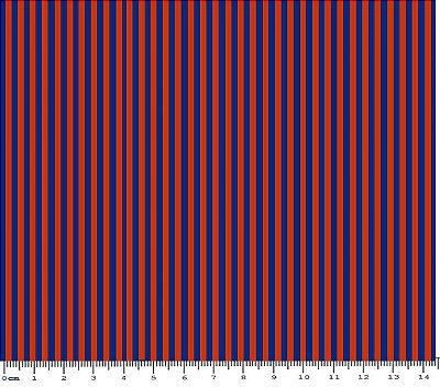 Tecido Tricoline LIstrada (Marinho e Vermelho) - 50 cm x 150 cm