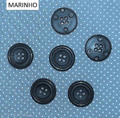Botão Color PVC - Diâmetro de 2 cm - com 4 Furos