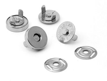 Botão Magnético (Prateado) - Diâmetro 14mm