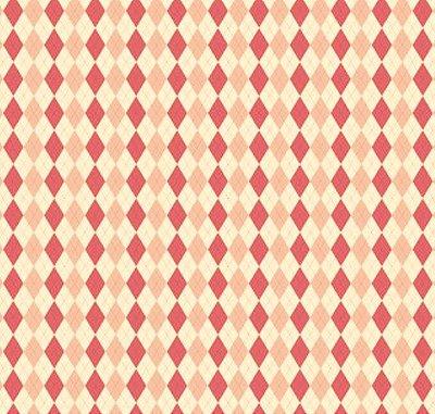 Tecido Triccoline Estampado Argile Rosa - Coleção Anita Catita - 50cm x 150cm