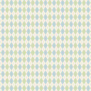 Tecido Triccoline Estampado Argile Azul e Verde- Coleção Anita Catita - Preço de 50cm x 150cm
