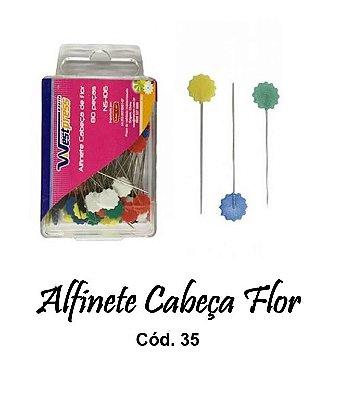Alfinetes Decorados Cabeça Flor - 4,5 cm de Comprimento - 0,6 mm Espessura