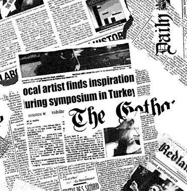 Tecido Tricoline Estampa de Jornal - 50cm x 150 cm