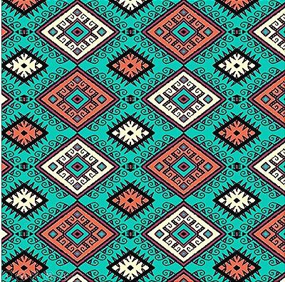 Tecido Tricoline  Estampa Coleção Los Andes (Fundo Verde) - 50 cm X 150 cm