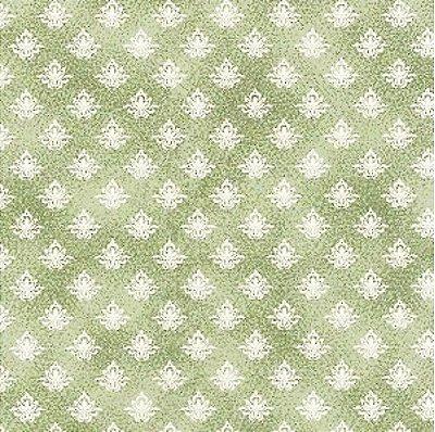 Tecido Tricoline Floral Mini Lotus Musgo - Coleção Mini Elementos - (50 cm x 150 cm)