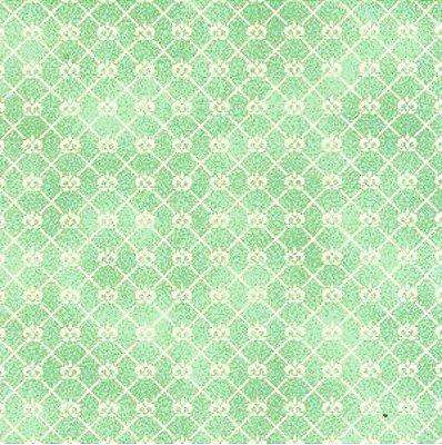Tecido Tricoline Mini Coroa Mint - Coleção Mini Elementos - (50 cm x 150 cm)