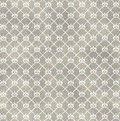 Tecido Tricoline Mini Coroa Cinza - Coleção Mini Elementos - (50 cm x 150 cm)