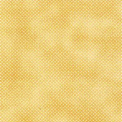 Tecido Tricoline Poá Branco c/ Poeira Doce de Leite - Coleção Mini Elementos - (50 cm x 150 cm)