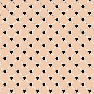 Tecido Tricoline Cerca de Corações Rose - Coleção I Love You - 50cm x 150cm
