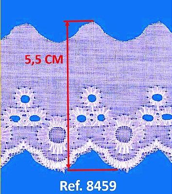 Bordado Inglês LULI (Branco) para Confecção e Artesanato