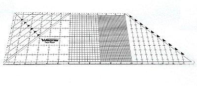 Régua para Canto Mitrado - Polegada - Milimetro e Angular