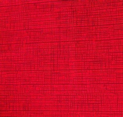 Tecido Tricoline Textura Riscada Vermelha 100% Algodão - Fio 40 (50cm x 150cm)