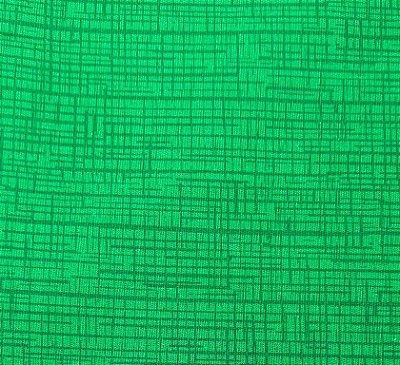 Tecido Tricoline Textura Riscada Verde Folha 100% Algodão - Fio 40 (50cm x 150cm)